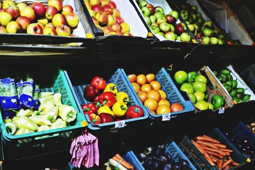 Market Vegetables Food Apples Fruits Peppers